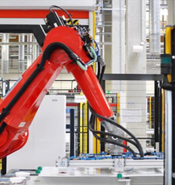 Robot i et produktionsanlæg, der fremstiller udstyr