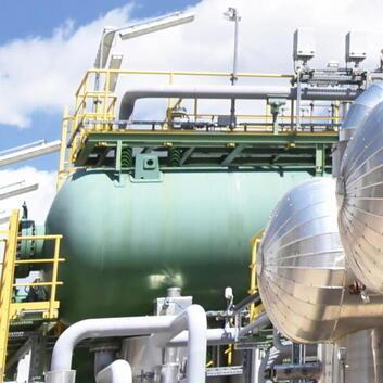 Industrielt petrokemisk anlæg