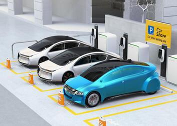 Bilmobilitetscenter i parkeringsanlæg