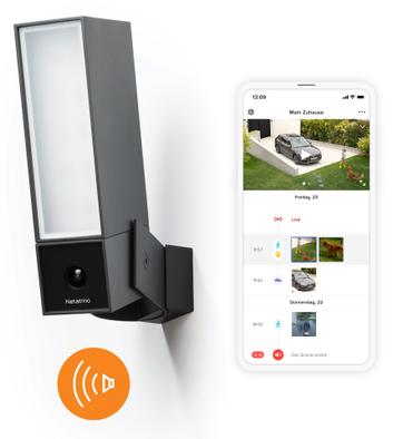 Smart Outdoor camera with alarm siren with smartphone